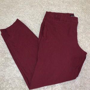 SOHO apparel maroon stretchy skinny ankle pants